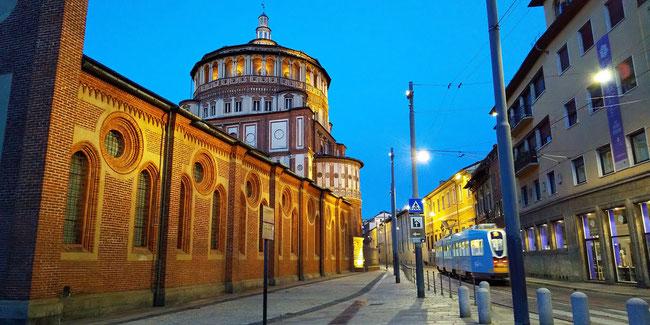『最後の晩餐』があるサンタ・マリア・デッレ・グラツィエ教会(ミラノ)