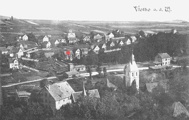 Vlotho, Weidestraße 9 (mein Geburtsort!)
