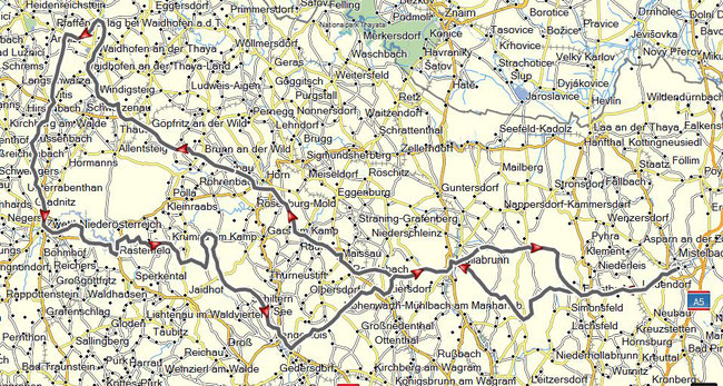 Gesamtstrecke 329km