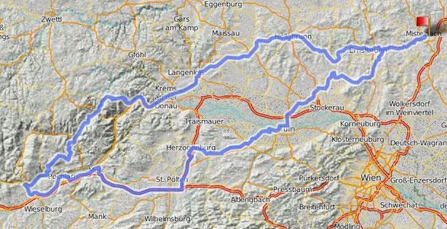 Gesamtstrecke 330km