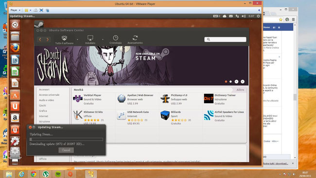 Un Ubuntu, la più famosa distro linux virtualizzato su Windows