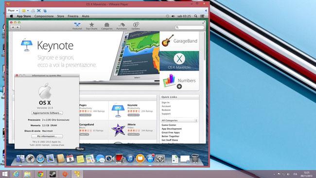 Il nuovissimo OSX Maverick virtualizzato