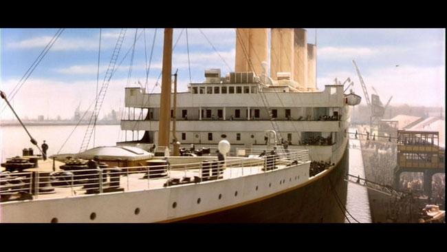 Il transatlantico Titanic creato in CG nel 1997 dalle sapienti mani di James Cameron