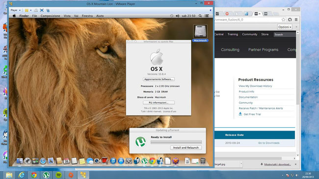 Un OSX Mountain Lion perfettamente virtualizzato