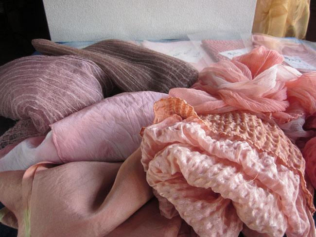 蘇芳 絹スカーフ