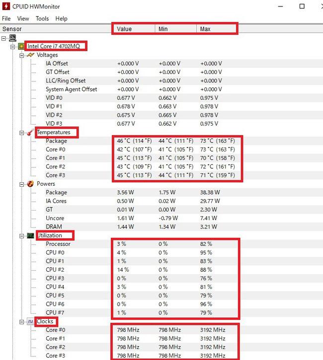 改造PCの起動直後のCPU温度等