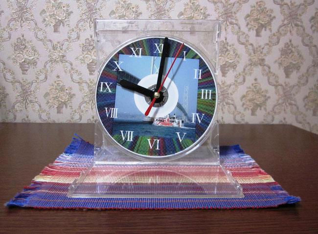 jtrimでフレーム作成後CD時計。