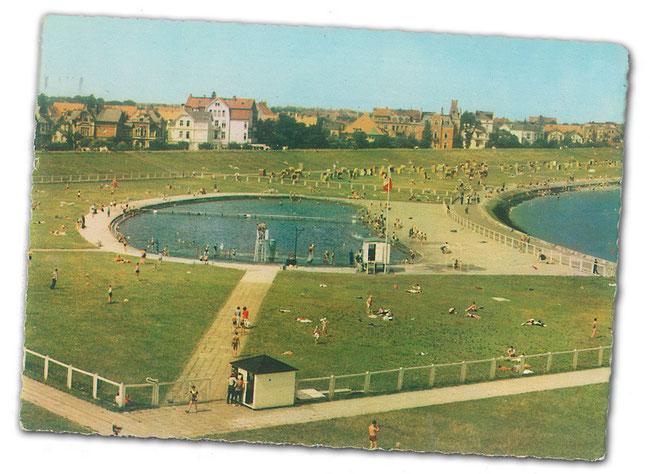 Die Grimmershörnbucht mit Sportbad in den 1960ern