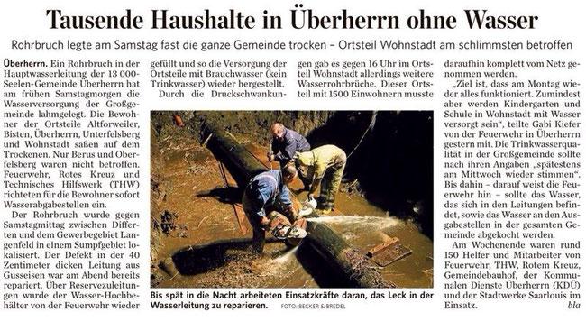 Quelle: Saarbrücker Zeitung 10.03.14