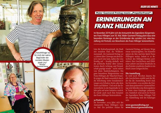 Gazmend Freitag: Erinnerungen an Franz Hillinger! Das LINZA stadtmagazin, Ausgabe 18 - Sommer 2019