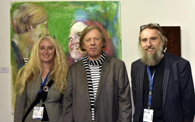 Anita Rojko, Gazmend Freitag und Josef Rojko, ART Salzburg, 18.10.2018. Photo: Josef Rojko