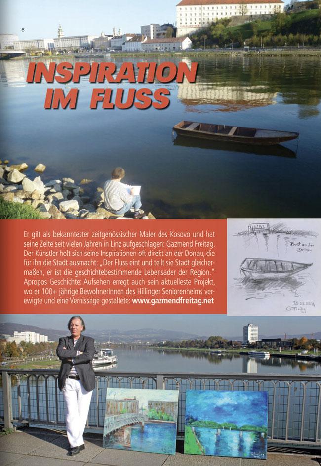 Gazmend Freitag: Inspiration im Fluss!  Das LINZA stadtmagazin, Ausgabe 21 - 2020