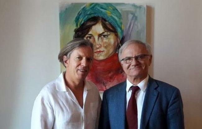 Gazmend Freitag, Ambassador Roland Bimo, Embassy of Albania Vienna, 2.11.2017