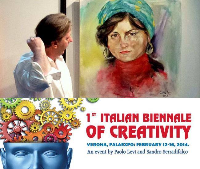 Teilnahme an der 1st BIENNALE of CREATIVITY, Verona
