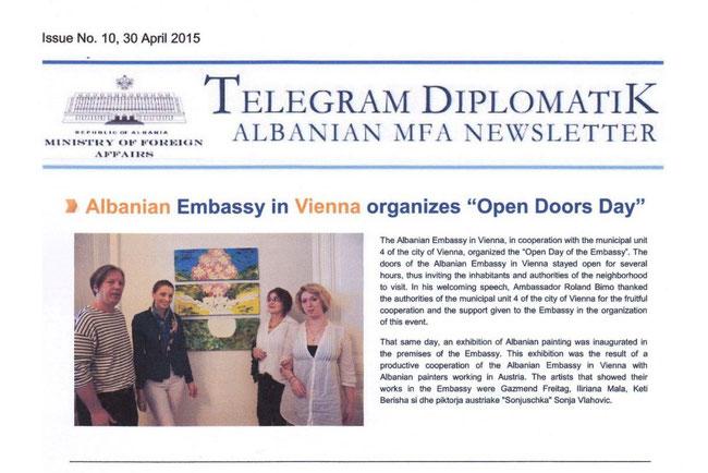 Telegram Diplomatik, Albanian MFA Newsletter