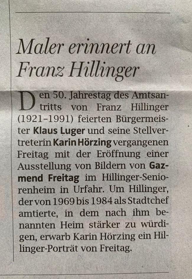 OÖNachrichten, 27.10.2019
