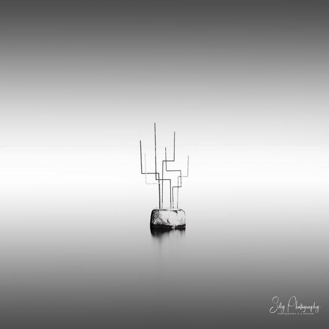 """Travemünde, Skulptur """"Horizonte"""", Ostsee, Langzeitbelichtung, 2019, © Silly Photography"""