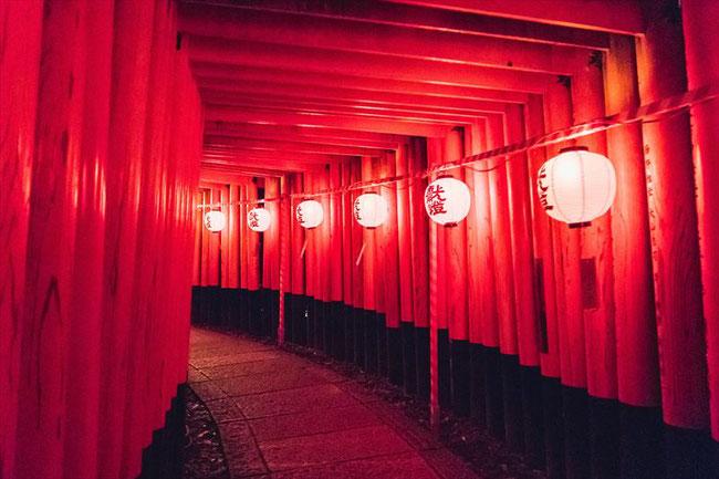 Fushimiinari shrine light