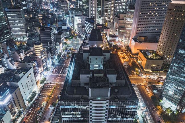 大阪駅前第三ビル展望スペースからの夜景