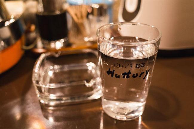 昭和レトロ喫茶「ハットリー(Hattory)」グラス