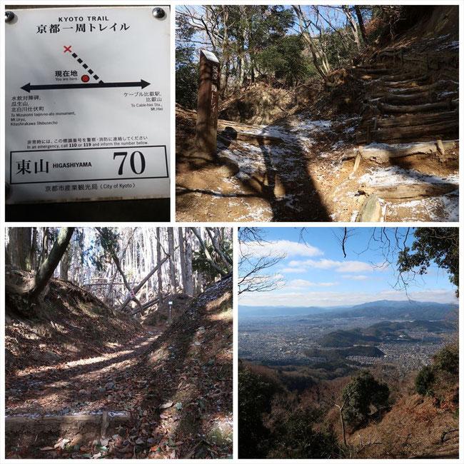 京都トレイル東山コース哲学の道→ケーブル比叡 東山70