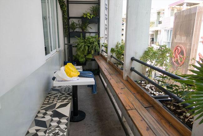 (ホーチミン)onetel hostel(ゲストハウス)バルコニー
