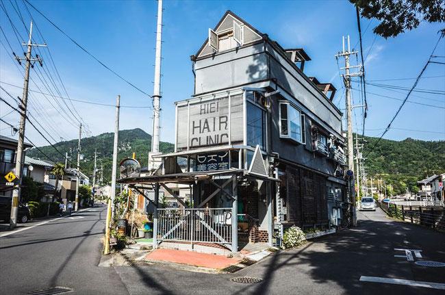 京都のY字路