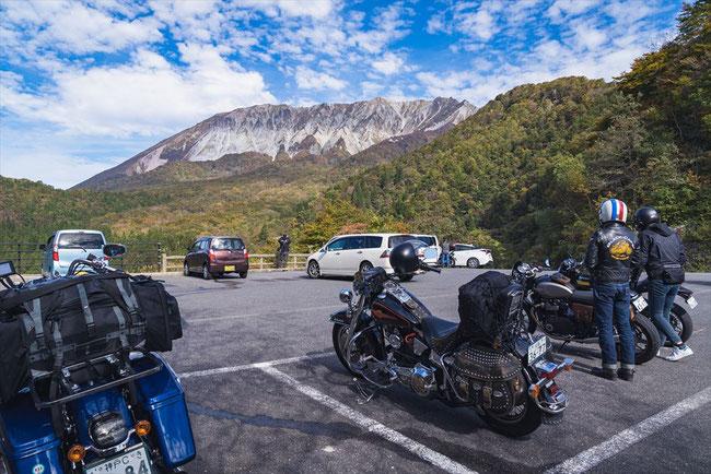 鳥取県の大山 鍵掛峠の駐車場