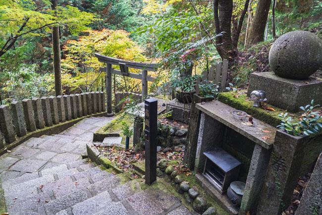 吉野山金峯山寺の脳天大神の参道
