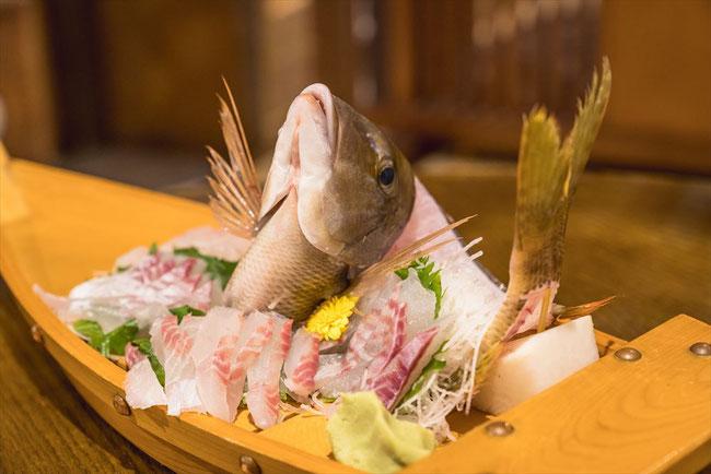 兵庫県竹野「ひととまる」刺身定食