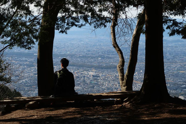 京都トレイル東山コース哲学の道→ケーブル比叡 展望