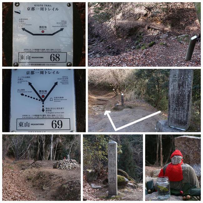 京都トレイル東山コース哲学の道→ケーブル比叡 水飲対陣跡碑