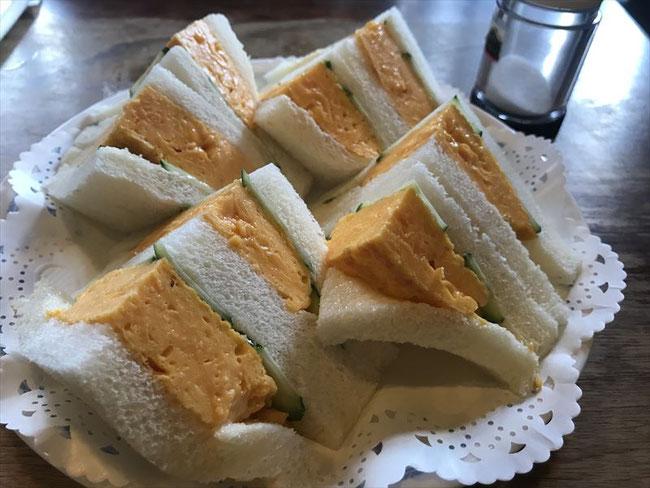 京都レトロ喫茶店「チロル」タマゴサンド