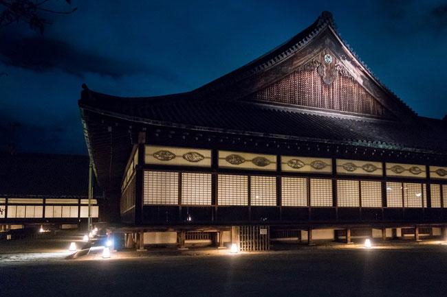 「ライトアップFLOWERS BY NAKED 2018-京都・二条城-」二の丸御殿ライトアップ