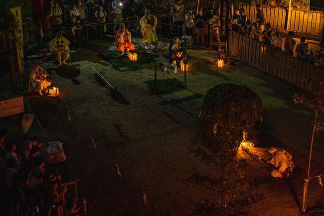 狸谷山不動院の火祭り