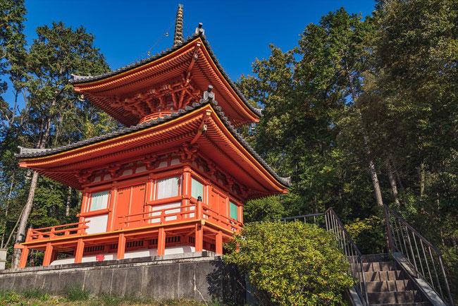 今熊野観音寺の朱色の塔