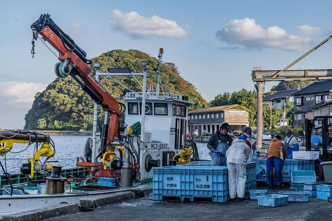 兵庫県竹野の漁港