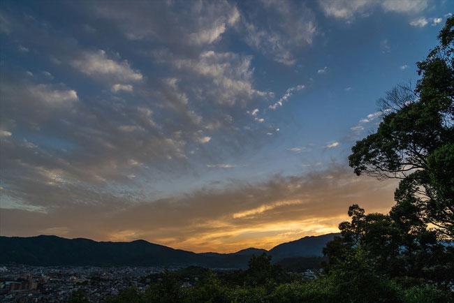 双ヶ岡からの夕焼け