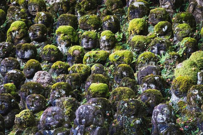 嵐山愛宕念仏寺の羅漢像