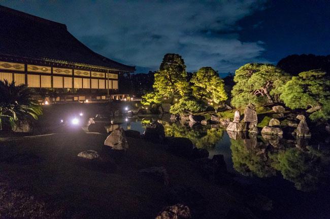 「ライトアップFLOWERS BY NAKED 2018-京都・二条城-」清流園ライトアップ