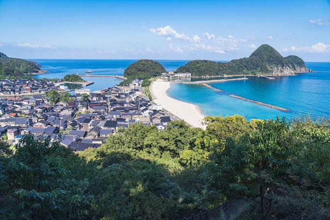 兵庫県竹野のジャジャ山からの眺め