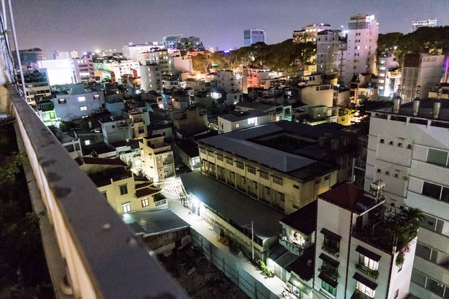 (ホーチミン)onetel hostel(ゲストハウス)屋上からの眺め