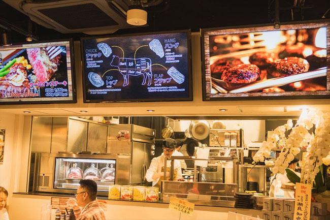 アメリカンステーキダイナー「STEAK & STEAK ステーキ ステーキ」スイナ室町