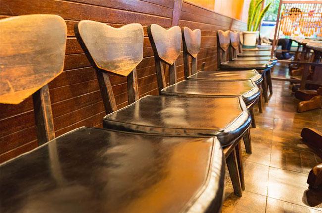 京都レトロ喫茶「鈴屋」椅子