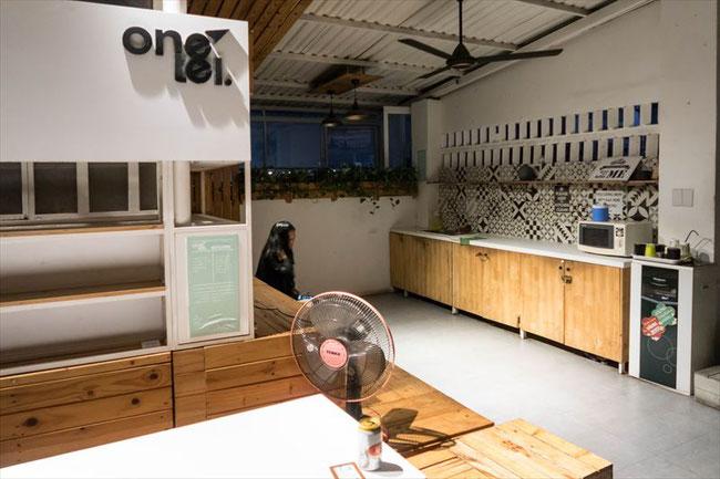 (ホーチミン)onetel hostel(ゲストハウス)キッチン