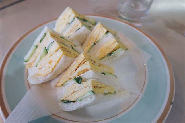 京都昭和レトロ「喫茶こぐま」タマゴサンド