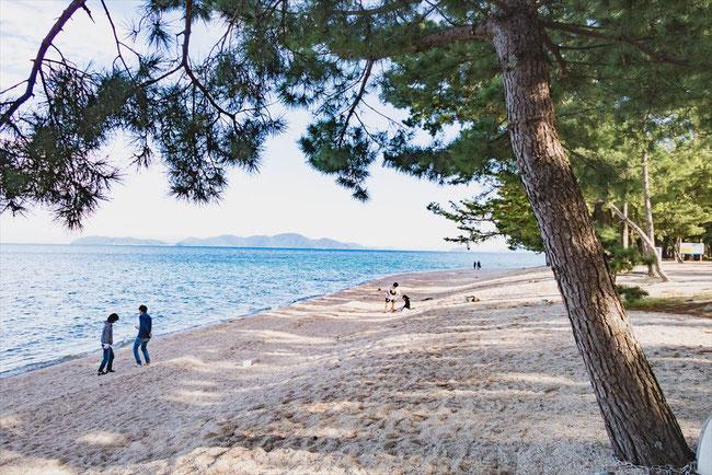 滋賀県琵琶湖砂浜