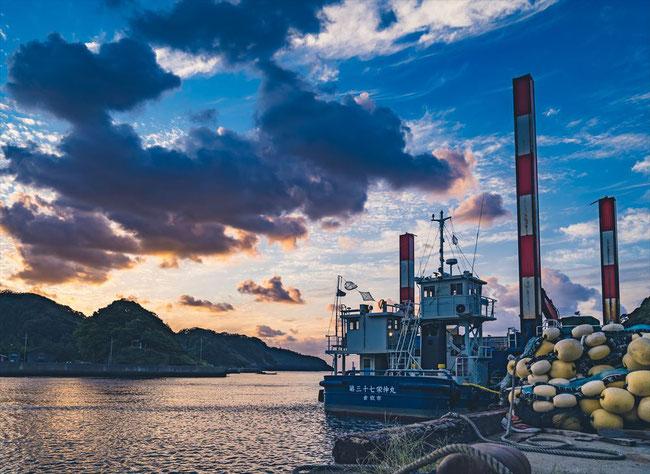 兵庫県竹野の海ゆうやけ