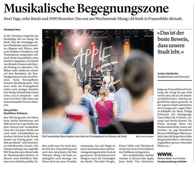 Thurgauer Zeitung 26.08.2019