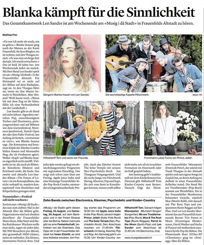 Thurgauer Zeitung 21.08.2019